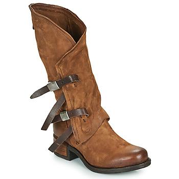 Schoenen Dames Hoge laarzen Airstep / A.S.98 ISPERIA BUCKLE Bruin
