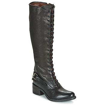 Schoenen Dames Hoge laarzen Airstep / A.S.98 OPEA LACE Zwart