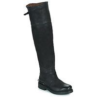 Schoenen Dames Hoge laarzen Airstep / A.S.98 BRET HIGH Zwart