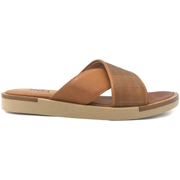 Schoenen Dames Leren slippers Ngy sandales ANNY Trucco Camel Bruin