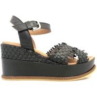 Schoenen Dames Sandalen / Open schoenen Ngy sandales SOLENA Metal Noir Zwart