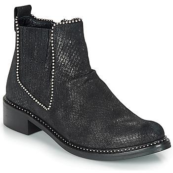 Schoenen Dames Laarzen Regard ROAL V1 CROSTE SERPENTE PRETO Zwart
