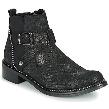 Schoenen Dames Laarzen Regard ROALA V1 CROSTE SERPENTE PRETO Zwart