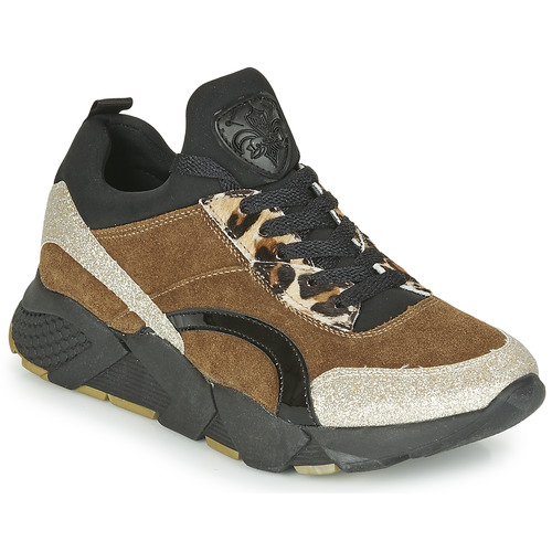 Schoenen Dames Lage sneakers Philippe Morvan VERSO V2 GLITTER FIN Bruin / Zwart