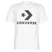Textiel Heren T-shirts korte mouwen Converse STAR CHEVRON Wit