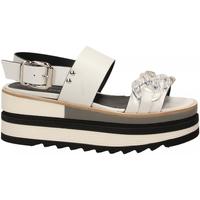 Schoenen Dames Sandalen / Open schoenen Laura Bellariva VITELLO CON CATENA bianco-trasparente