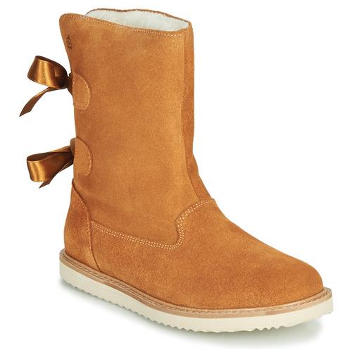 Schoenen Meisjes Laarzen Citrouille et Compagnie LILINA Camel