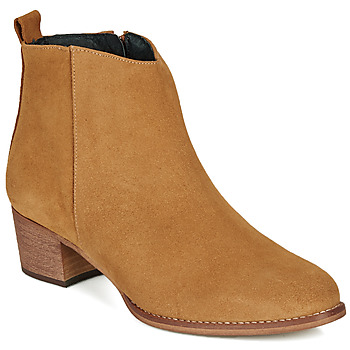 Schoenen Dames Enkellaarzen So Size MARTINO Camel