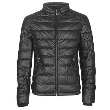 Textiel Heren Leren jas / kunstleren jas Guess STRETCH PU QUILTED Zwart