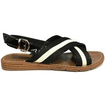 Schoenen Dames Sandalen / Open schoenen Chattawak sandales 7-TIFFANY Noir Zwart