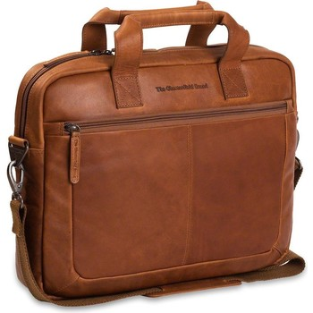 Tassen Computertassen Chesterfield Leren Laptoptas 14 inch Calvi Bruin