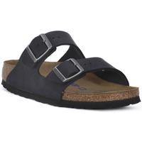Schoenen Leren slippers Birkenstock ARIZONA SFB Nero