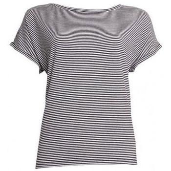 Textiel Dames T-shirts korte mouwen 20 To 20TO t-shirt 20to56 stripe Zwart