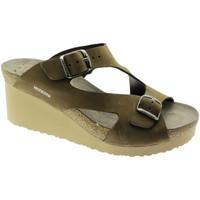 Schoenen Dames Leren slippers Mephisto MEPHTERIEma marrone
