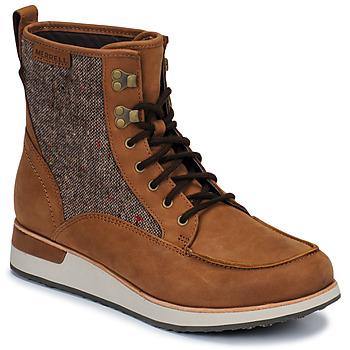 Schoenen Dames Laarzen Merrell ROAM MID Bruin