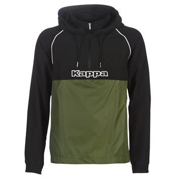Textiel Heren Windjack Kappa RISANO Zwart / Kaki