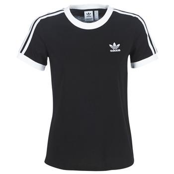 Textiel Dames T-shirts korte mouwen adidas Originals 3 STR TEE Zwart