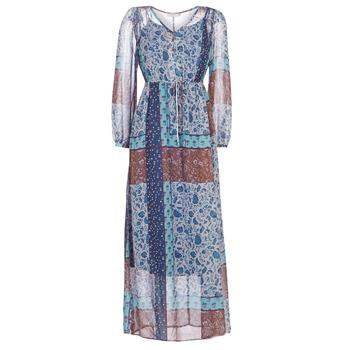 Textiel Dames Lange jurken Cream SAMA Blauw / Bruin