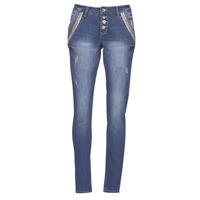 Textiel Dames Straight jeans Cream DICTE Blauw