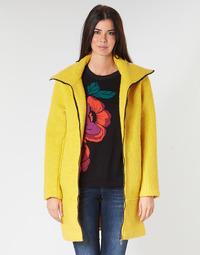 Textiel Dames Mantel jassen Desigual LAND Geel