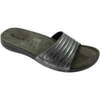 Schoenen Dames Leren slippers Riposella RIP5792gr grigio