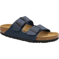 Schoenen Dames Leren slippers Birkenstock Arizona Bleu marine