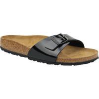 Schoenen Dames Leren slippers Birkenstock Madrid Noir