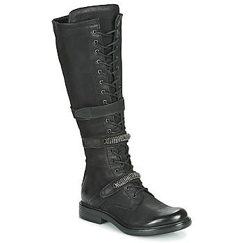 Schoenen Dames Hoge laarzen Mjus CAFE HIGH Zwart