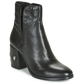 Schoenen Dames Enkellaarzen Mjus TWISTER METAL Zwart