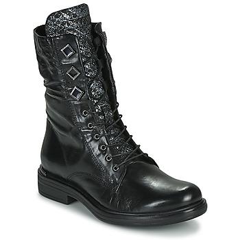 Schoenen Dames Laarzen Mjus CAFE METAL Zwart / Slang
