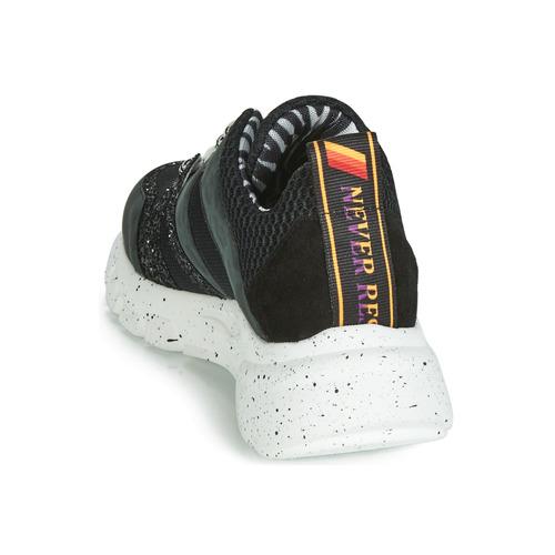 Meline Lette Zwart / Groen - Gratis Levering Schoenen Lage Sneakers Dames 10000
