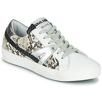 Schoenen Dames Lage sneakers Meline PANNA Wit / Python