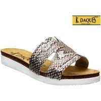 Schoenen Dames slippers K. Daques Deba Grijs