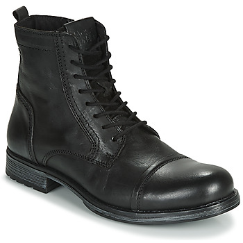 Schoenen Heren Laarzen Jack & Jones JFW RUSSEL LEATHER Zwart