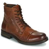 Schoenen Heren Laarzen Jack & Jones JFW RUSSEL LEATHER Cognac