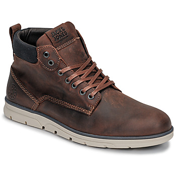 Schoenen Heren Laarzen Jack & Jones JFW TUBAR LEATHER Bruin
