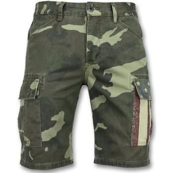 Textiel Heren Korte broeken / Bermuda's Enos Camouflage Korte Broek Bermuda Groen