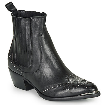 Schoenen Dames Enkellaarzen Ikks BP80075-03 Zwart
