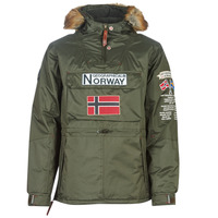 Textiel Heren Parka jassen Geographical Norway BARMAN-KAKI Kaki