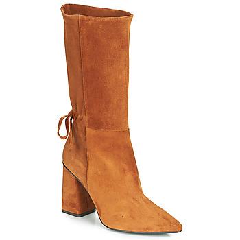 Schoenen Dames Hoge laarzen Fericelli LUCIANA Camel