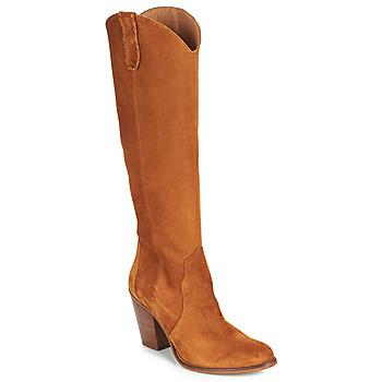 Schoenen Dames Hoge laarzen Fericelli LUNIPIOLLE Camel
