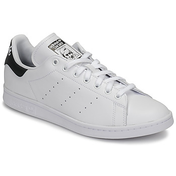 Schoenen Lage sneakers adidas Originals STAN SMITH Wit / Zwart