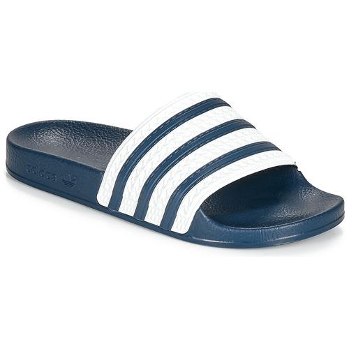 adidas Originals ADILETTE Blauw / Wit - Schoenen slippers ...