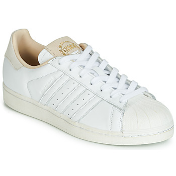 Schoenen Lage sneakers adidas Originals SUPERSTAR Wit / Beige