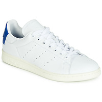 Schoenen Lage sneakers adidas Originals STAN SMITH Wit / Blauw / Vierkant