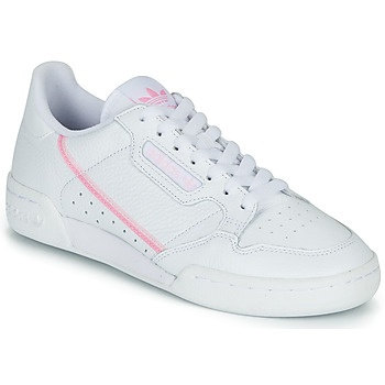 Schoenen Dames Lage sneakers adidas Originals CONTINENTAL 80 W Wit / Roze