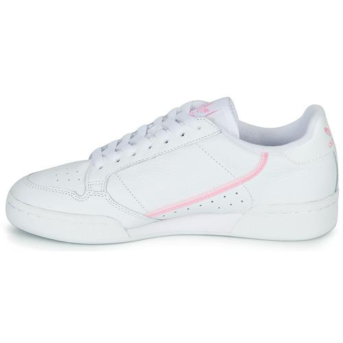 adidas Originals CONTINENTAL 80 W Wit / Roze - Gratis levering  Schoenen Lage sneakers Dames
