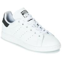Schoenen Kinderen Lage sneakers adidas Originals STAN SMITH J Wit / Zwart