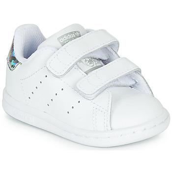 Schoenen Meisjes Lage sneakers adidas Originals STAN SMITH CF I Wit / Zilver