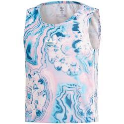 Textiel Meisjes Mouwloze tops adidas Originals MARBLE CRP TANK Azul